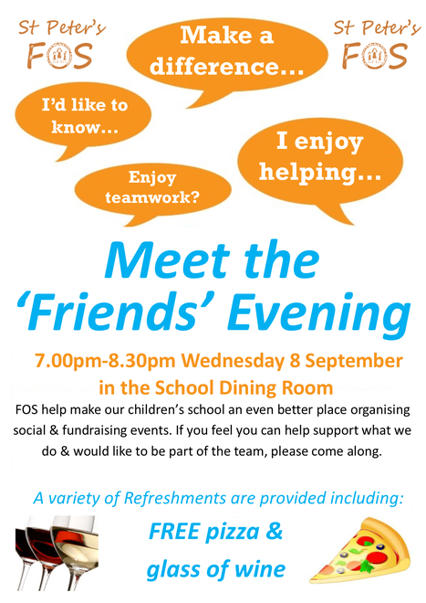 Meet the Friends - Wed 8 Sept 7.00pm