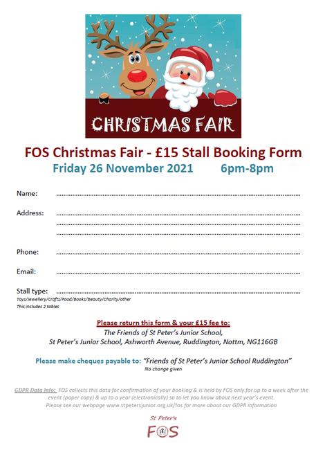 Christmas Fair Stall