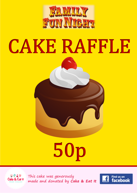 Cake raffle, thanks to local bakers 'Cake & Eat It'