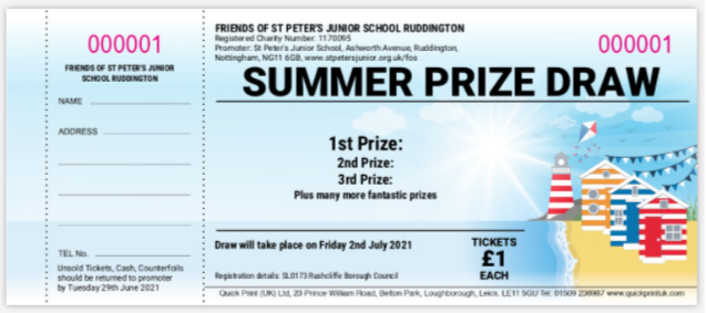 Summer Raffle - On sale 11th - 29th June, Draw 2nd July