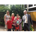 Presentation of a new defibrillator to St Peter's