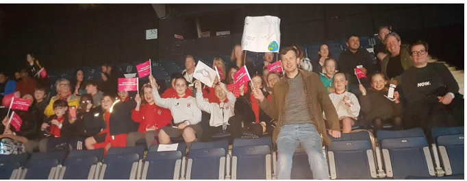 Some of our pupils at WE Day 2020