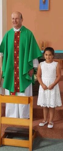 Congratulations Faye on making your First Holy Communion.