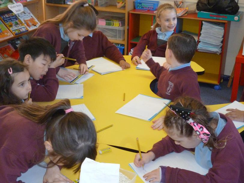 We are using lots of our writing skills.