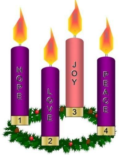 The Advent wreath helps us wait for Christmas.