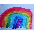 Zofia painted this rainbow!
