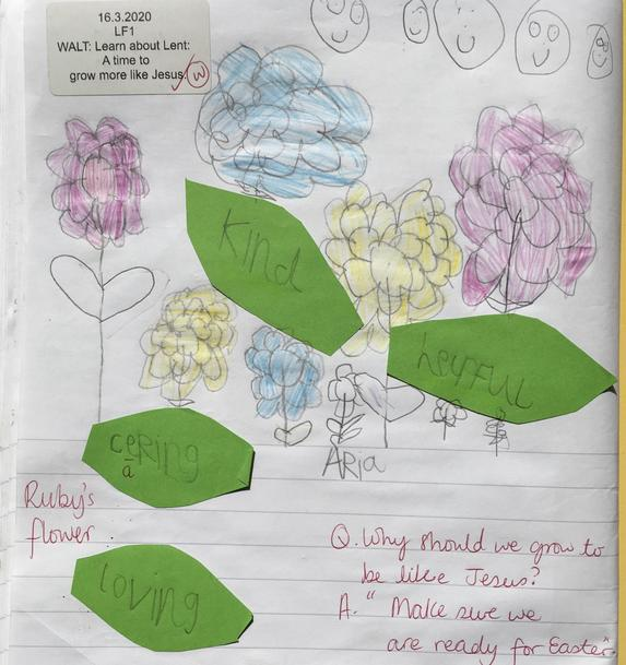 We have made made Lenten promise flowers.