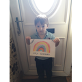 I made a rainbow to say 'thank you'!