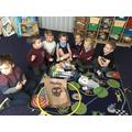 Sorting the rubbish