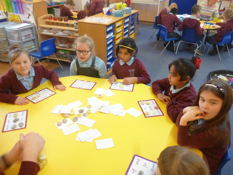 We are practicing our key words.