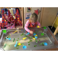Herbs in the water tray - do you like the smell?