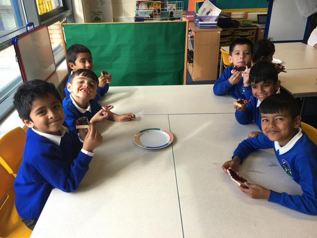 We all enjoyed our home made jam sandwiches