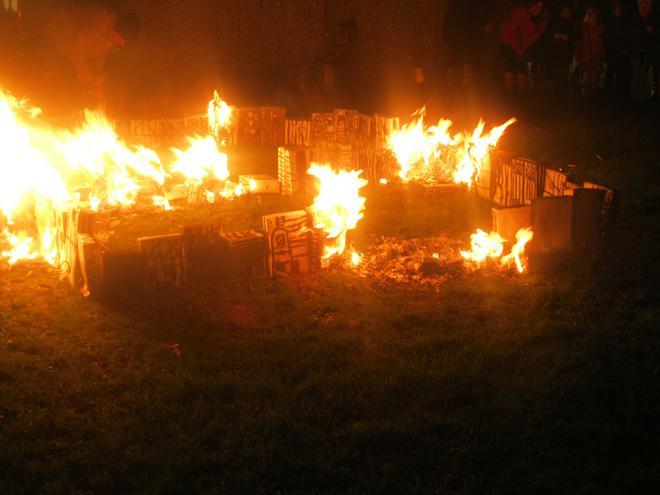 London's burning.