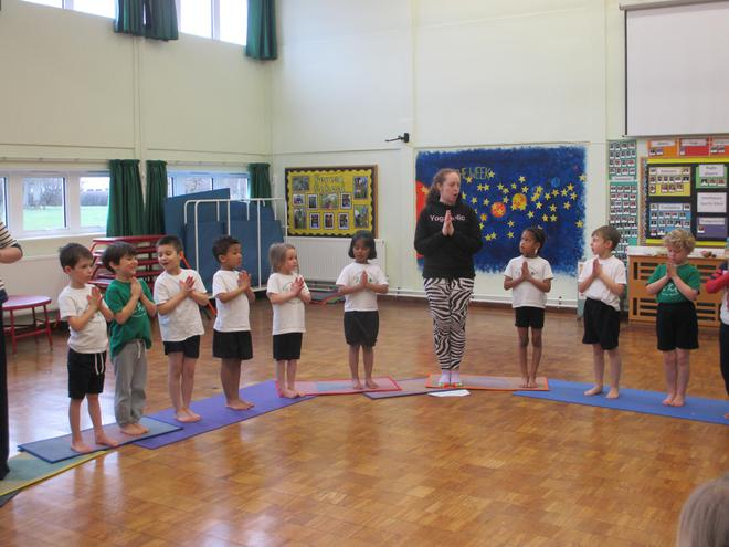 We did some movements as part of the sun dance.