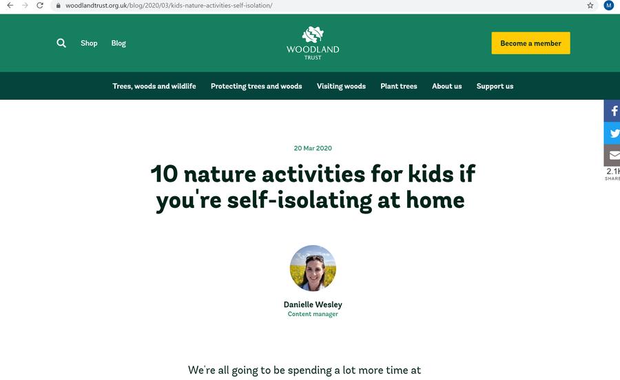 Woodland Trust - Nature activities
