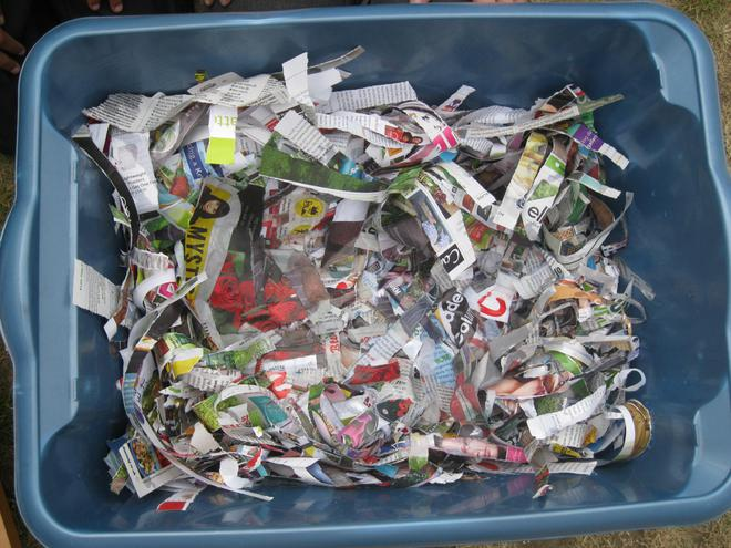 Tuesday - we shredded more paper