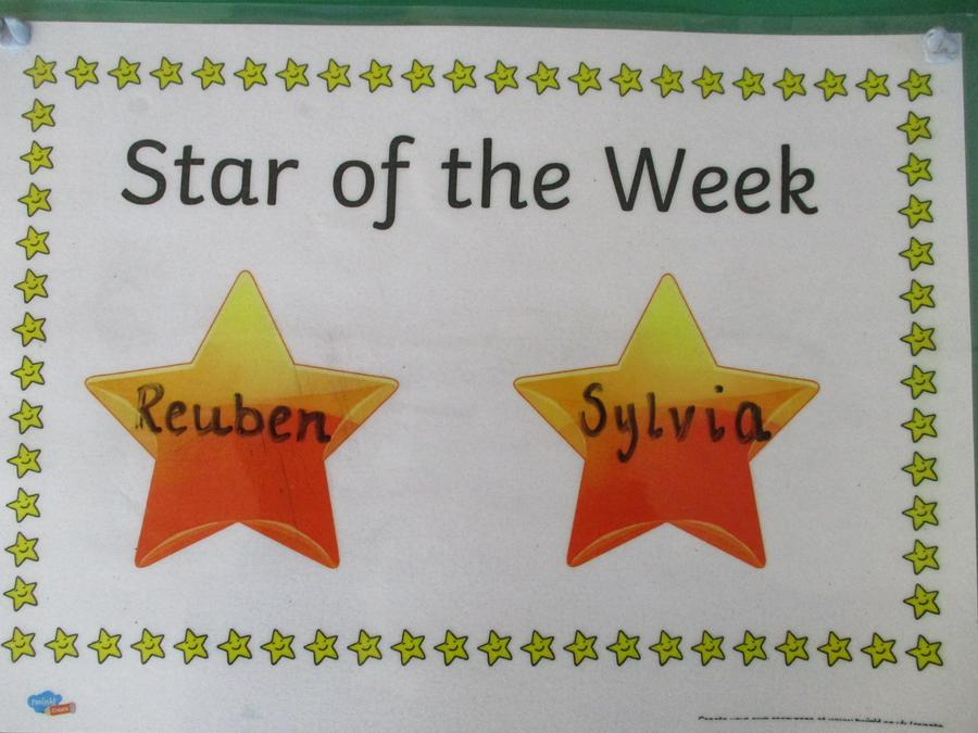 'Settling in' - Well done to both of our stars of the week