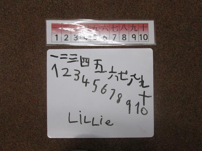 Chinese numbers.