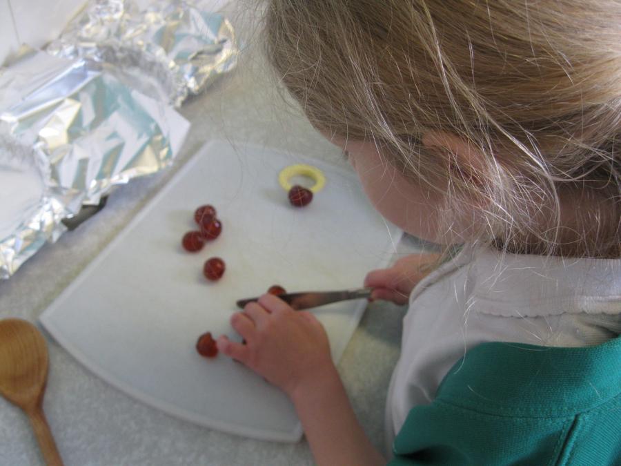 making fridge cake - part of a balanced diet