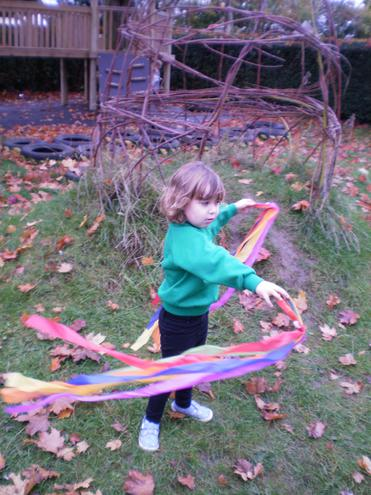 Using streamers in the wind.