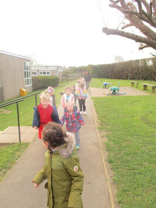 Ash class went for a mile long walk.