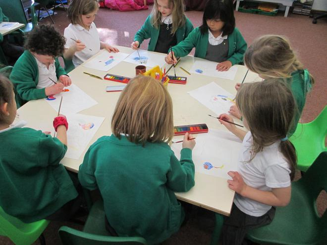 We worked quietly whilst listening to Sibelius