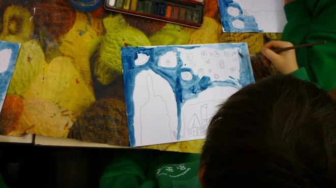 We had a go at creating our own paintings.