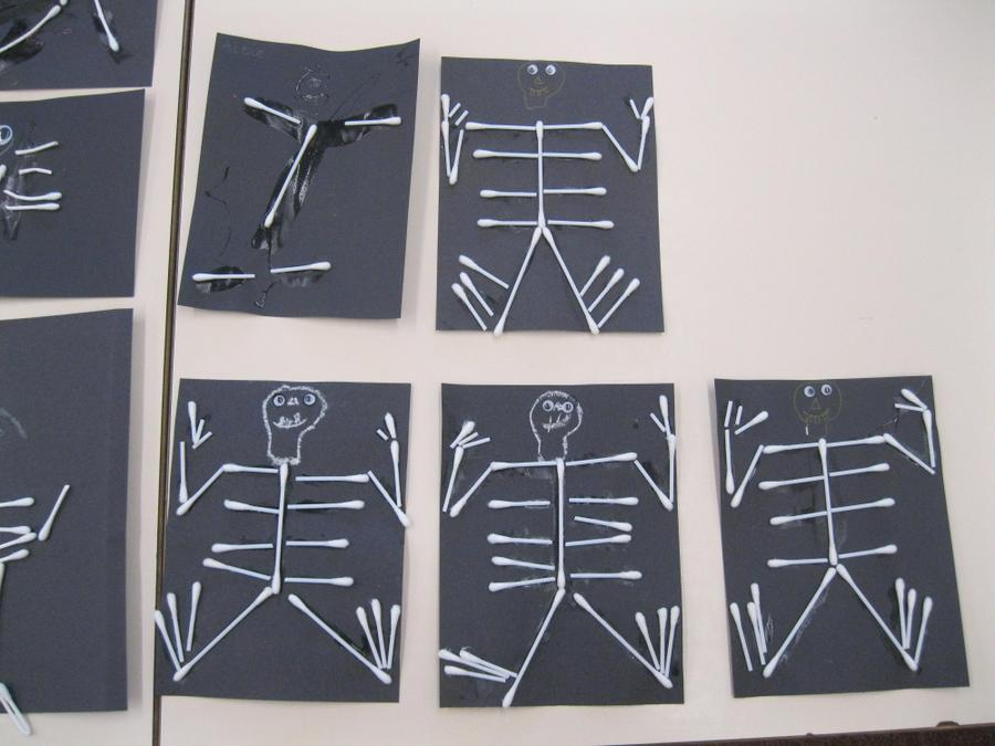 We made our own skeletons.