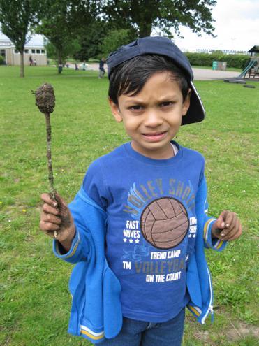 a mud lollipop