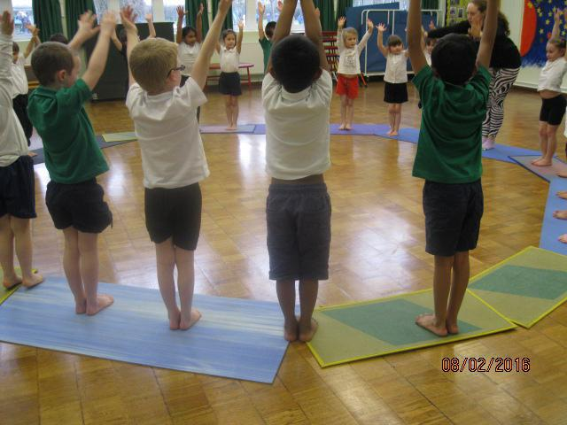 Stretching our bodies......