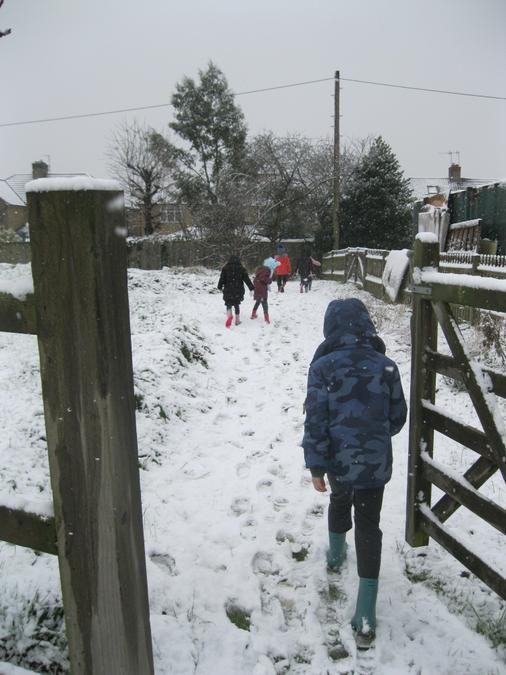 a snowy mile