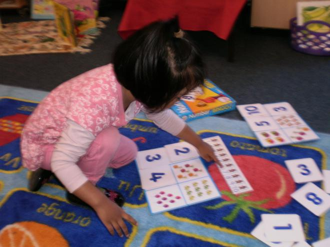 Playing number games.