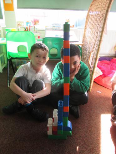 We built large structures.