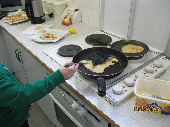 We cooked the pancake