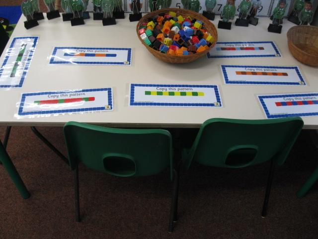Continuing and making repeating patterns.