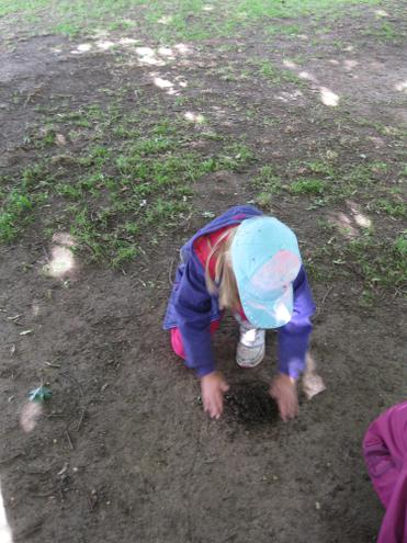 making a mud pancake