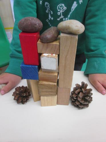 a range of natural materials