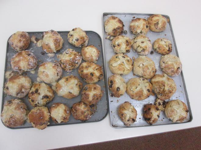 Look at our hot cross buns. How did they taste?