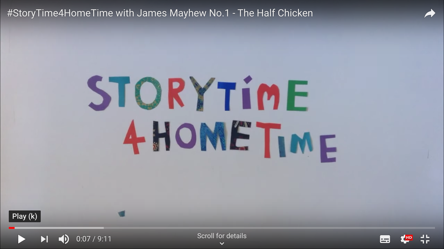 A different story each day, find on YouTube.