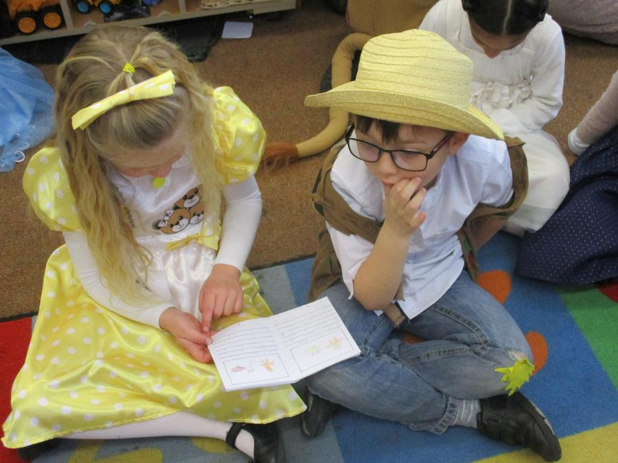 The year 2 children came to read us stories that