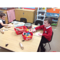 Building our finger strength with playdough