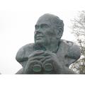 A statue of Sir Peter Scott.