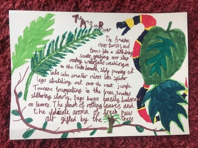 Alex's poem with gorgeous illustrations!