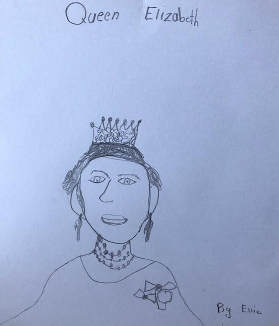 Ellie's portrait of Queen Elizabeth II