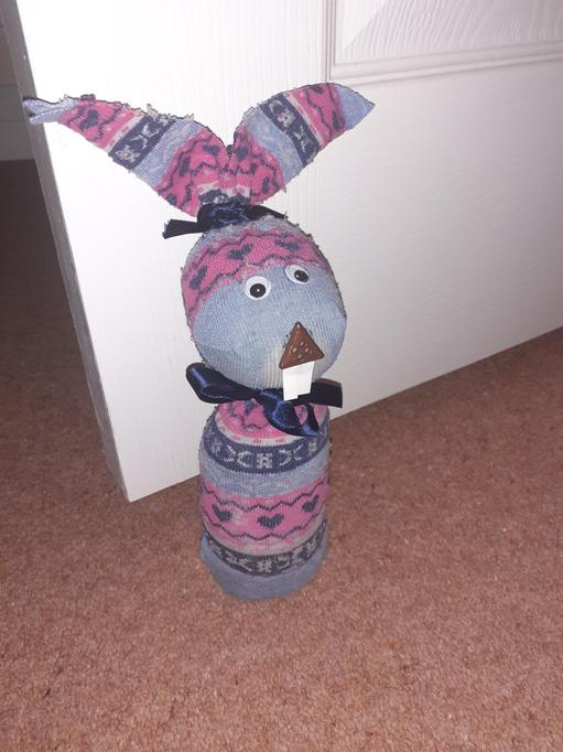 You could use your sock bunny as a doorstop!