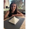 Sugar cube pyramid challenge (Oak)