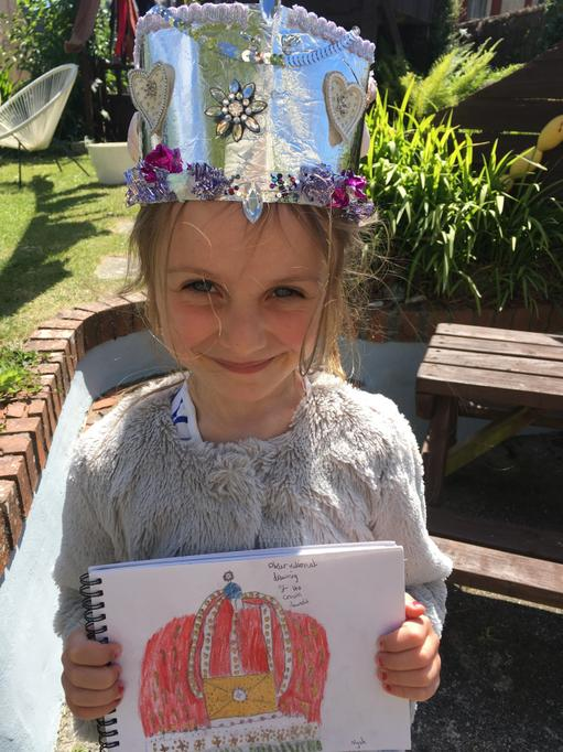 Homemade crown and drawing