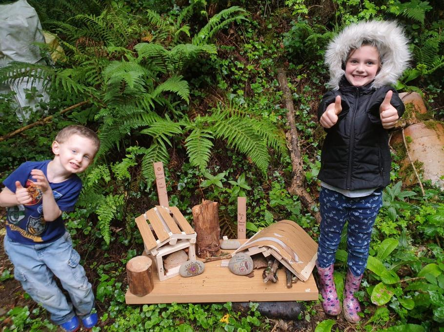 Fun creating bug hotels