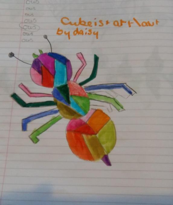Daisy's cubist spider