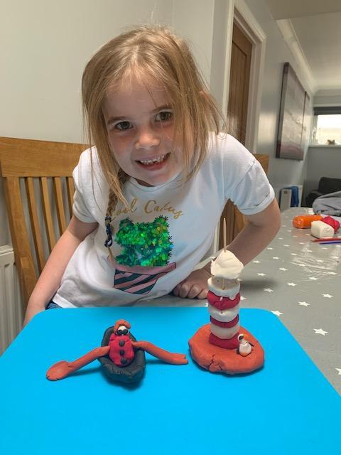 Grace Darling and her lighthouse in modelling dough.jpg